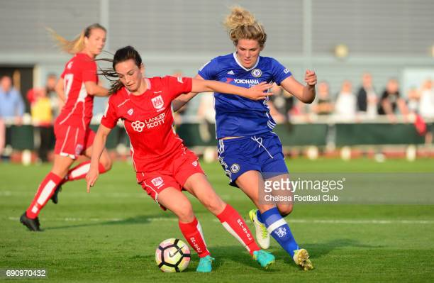 Mille Bright of Chelsea during a WSL 1 match between Bristol City Women and Chelsea Ladies at the Stoke Gifford Stadium on May 31 2017 in Bristol...