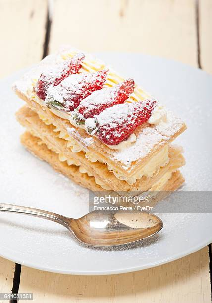 Mille Feuille With Strawberries And Cream