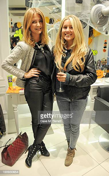 Mille Mackintosh and Caggie Dunlop attend the launch of Dubble Trubble by celebrity hair colourist and organic beauty pioneer Daniel Galvin Jr of...