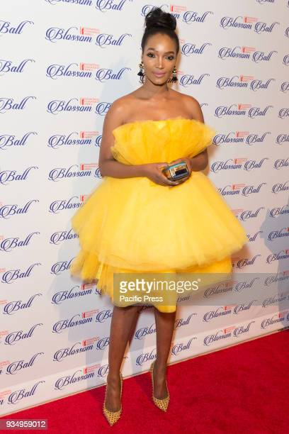 Millen Magese wearing dress by Dolly Skeppings attends Endometriosis Foundation of America 9th Annual Blossom Ball at Cipriani 42nd street