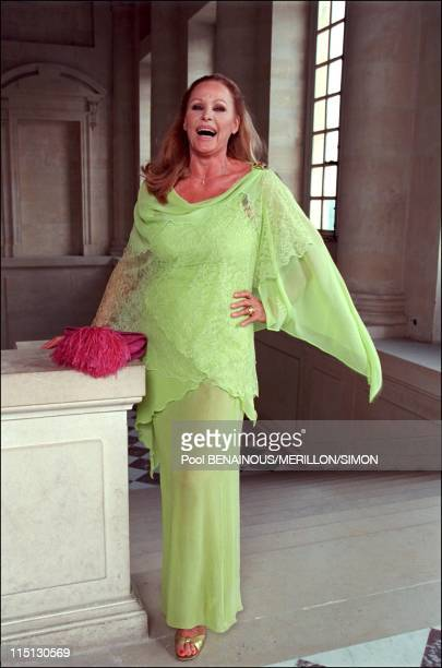 Millenium book launching party in Versailles Castle in Versailles France on June 27 2001 Ursula Andress