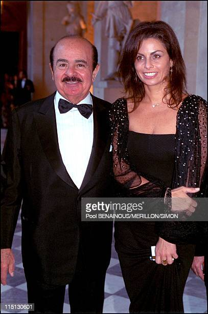 Millenium book launching party in Versailles Castle in Versailles France on June 27 2001 Adnan Khashoggi and his daughter Nabila