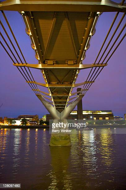 millenium bridge over the river thames, london, united kingdom - 2000 2009 stock pictures, royalty-free photos & images