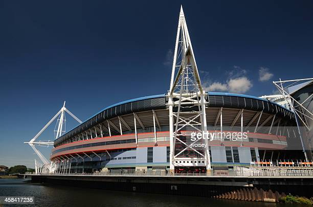 millenium stadium, wales - cardiff wales stock pictures, royalty-free photos & images