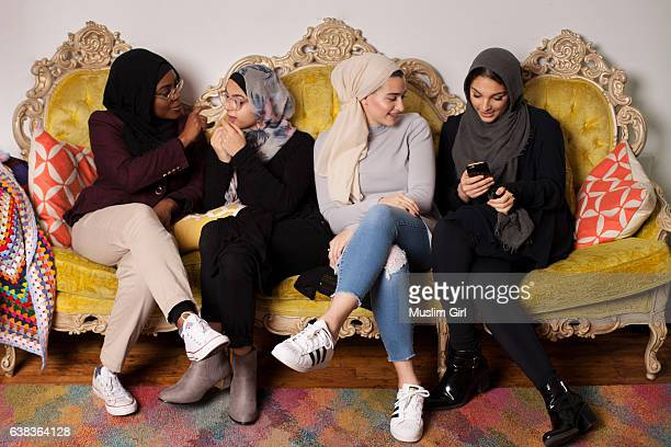millennial #muslimgirls having fun - muslimgirlcollection stock pictures, royalty-free photos & images