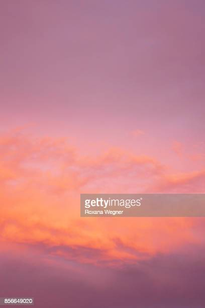 millennial pink and blue sky - millennial pink stock pictures, royalty-free photos & images