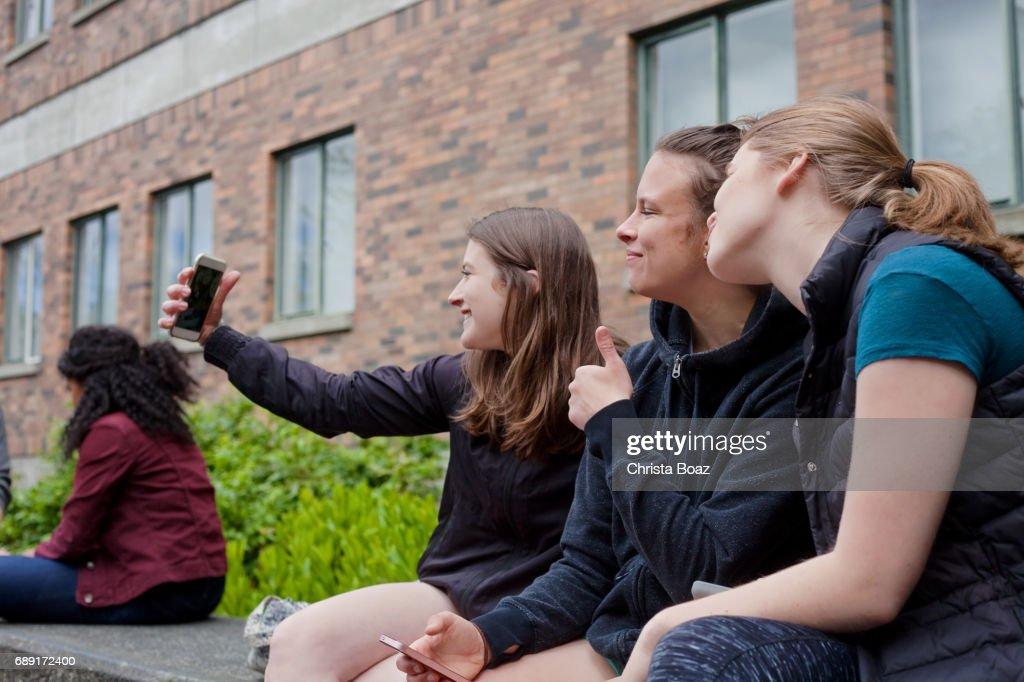 千年 Selfie : ストックフォト