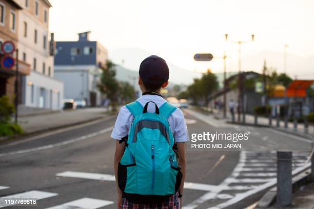 millennials and a child take a trip in nikko_japan - schoolboy stock pictures, royalty-free photos & images