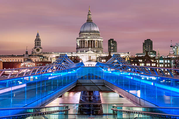 Millennium Bridge To St Paul's Cathedral, London Wall Art