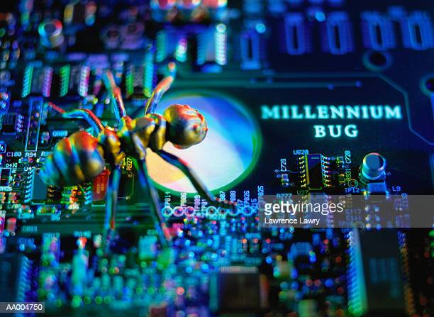 Millennium Bug on a Computer Circuit Board