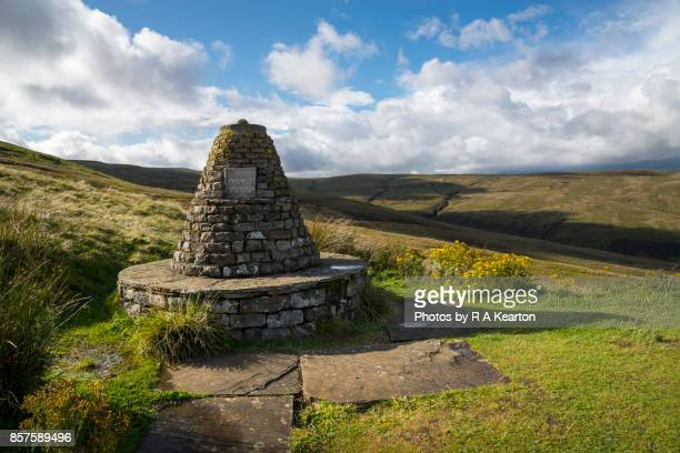 Millennium Cairn at the Buttertubs Pass, North Yorkshire, England