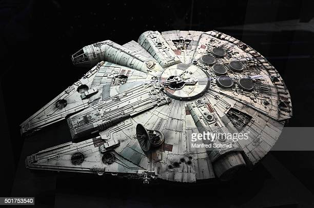 Millennium Falcon' is on display in the 'STAR WARS Identities' exhibition press conference & photo call at MAK on December 17, 2015 in Vienna,...