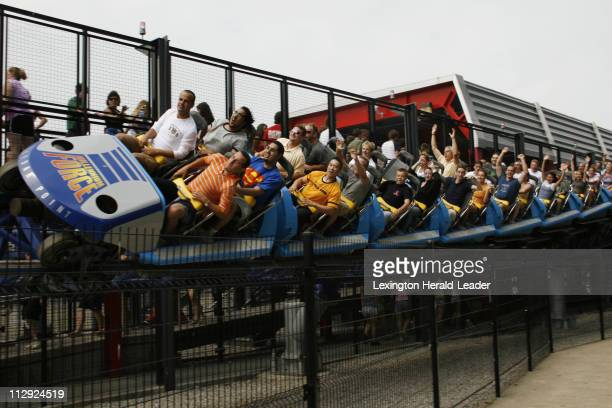 Millennium Force a ride at Cedar Point in Sandusky Ohio keeps you screaming after its 200 plus drop at the beginning of the ride