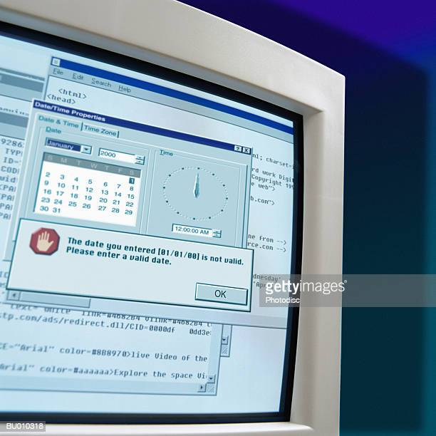 millennium malfunction - error message stock pictures, royalty-free photos & images