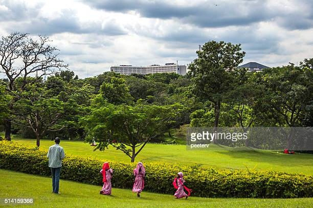 millennium park. abuja, nigeria. - abuja stock pictures, royalty-free photos & images
