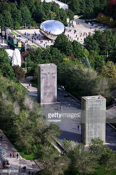 Millennium Park desde arriba, Chicago
