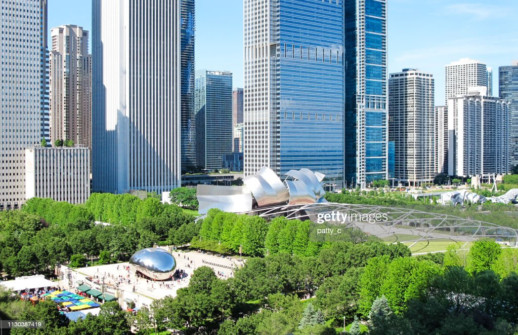 Millennium Park from Above : Stock Photo