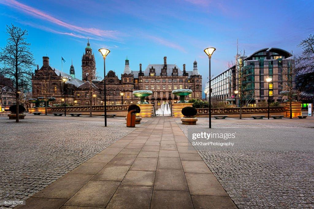 Millennium Square, Sheffield, UK : Stock Photo