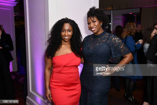 PJ miller and Amanda E Johnson attend the 2019 NRF Foundation Gala at Sheraton New York Times Square on January 13 2019 in New York City