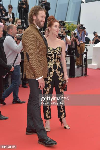 J Miller and Kate Gorney attend the 'Wonderstruck' screening during the 70th annual Cannes Film Festival at Palais des Festivals on May 18 2017 in...