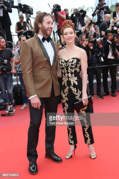 J Miller and Kate Gorney attend the 'Wonderstruck ' screening during the 70th annual Cannes Film Festival at Palais des Festivals on May 18 2017 in...
