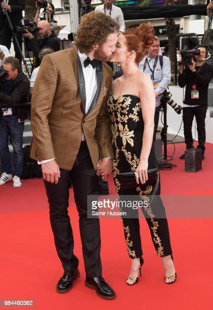 J Miller and Kate Gorney attends the 'Wonderstruck' screening during the 70th annual Cannes Film Festival at Palais des Festivals on May 18 2017 in...