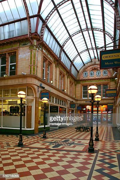 Miller Arcade Preston Lancashire View of the interior of Preston's Victorian shopping arcade
