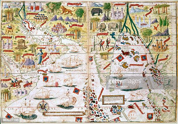 Miller Atlas c1519 The Portuguese Miller Atlas was discovered in France in 19th century although its origins are uncertain It shows the Indian Ocean...