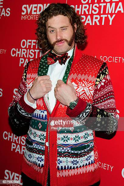 J Miller attends the Paramount Pictures with Paramount Pictures with The Cinema Society Svedka Host a Screening of 'Office Christmas Party' at...