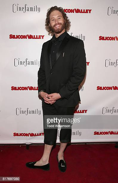 J Miller attends the red carpet for a premiere of Scene 308 of HBO's 'Silicon Valley' at Cinefamily on March 25 2016 in Los Angeles California