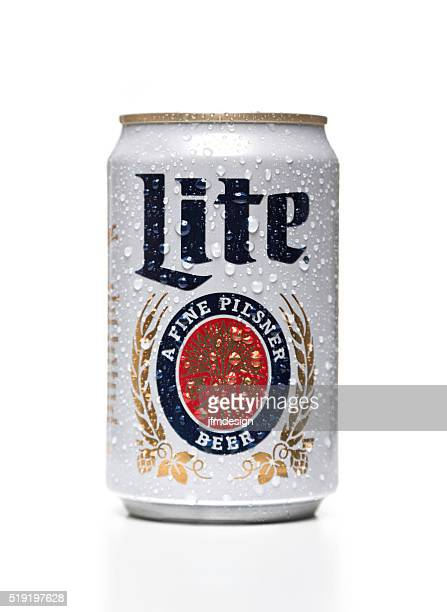 Miller Lite can with water drops
