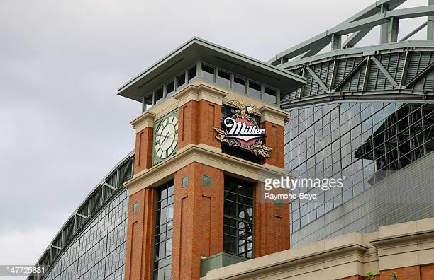 Miller Park clock tower, in Milwaukee, Wisconsin on JUNE 16, 2012.