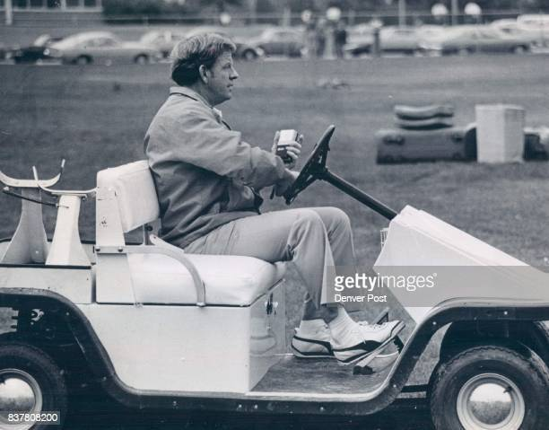 Miller Red Ind Coach SPt Football Special Negative To Strip Later Next On The Tee New Bronco Coach Red Miller uses golf cart for quick trips from...