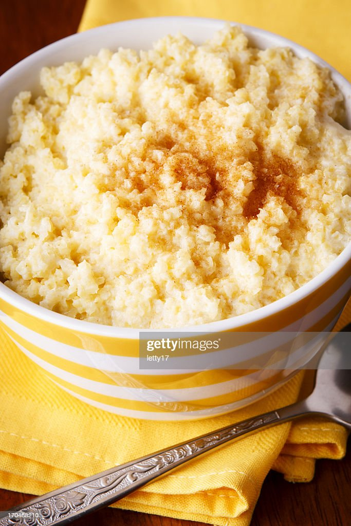 Millet porridge : Stock Photo