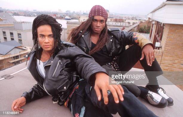 Milli Vanilli portraits London 27 September 1988 LR Rob Pilatus Fab Morvan