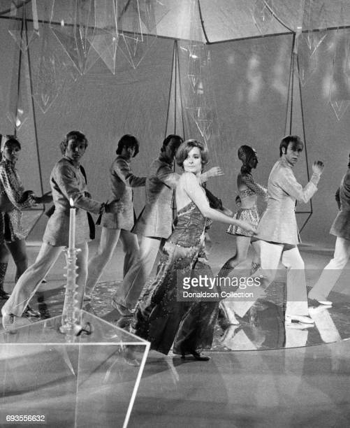 Millicent Martin performs as a part of Ace Trucking Company on This Is Tom Jones TV show in circa 1970 in Los Angeles California