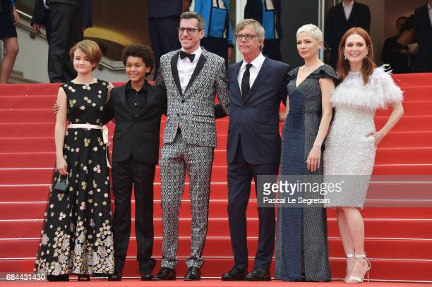Millicent Simmonds actor Jaden Michael Screenwriter Brian Selznick Director Todd Haynes actresses Michelle Williams and Julianne Moore attend the...
