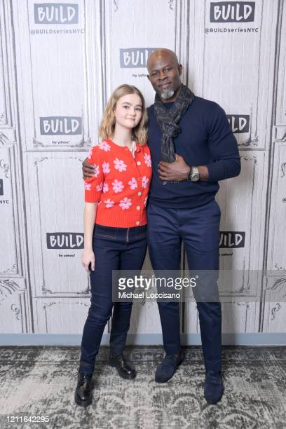 Millicent Simmonds and Djimon Hounsou visit Build to discuss the film A Quiet Place Part II at Build Studio on March 10 2020 in New York City