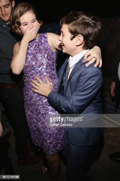 Millicent Simmonds and Noah Jupe attend A Quiet Place New York Premiere After Party on April 2 2018 in New York City