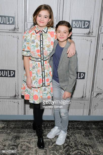 Millicent Simmonds and Noah Jupe visit Build Studio to discuss the film A Quiet Place on April 3 2018 in New York City