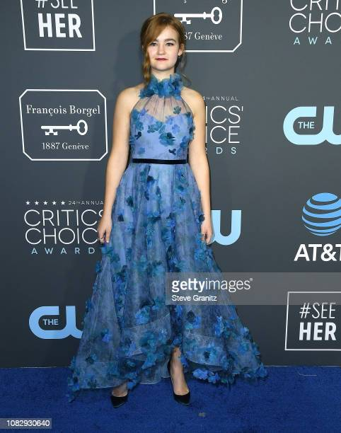 Millicent Simmonds arrives at the The 24th Annual Critics' Choice Awards attends The 24th Annual Critics' Choice Awards at Barker Hangar on January...