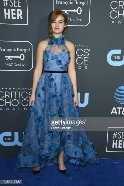 Millicent Simmonds attends the 24th annual Critics' Choice Awards at Barker Hangar on January 13 2019 in Santa Monica California