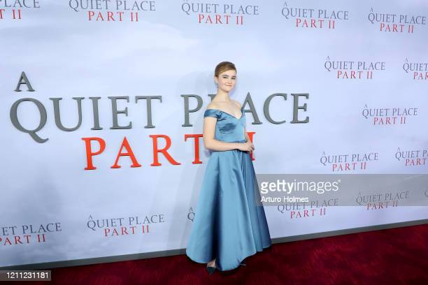 Millicent Simmonds attends the A Quiet Place Part II World Premiere at Rose Theater Jazz at Lincoln Center on March 08 2020 in New York City