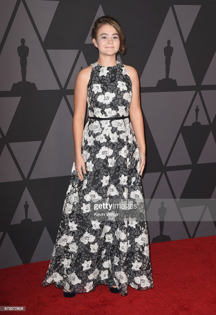 Millicent Simmonds attends the Academy of Motion Picture Arts and Sciences' 9th Annual Governors Awards at The Ray Dolby Ballroom at Hollywood & Highland Center on November 11, 2017 in Hollywood, California.