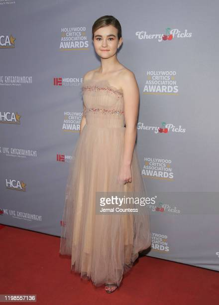 Millicent Simmonds attends the Hollywood Critics Awards at Taglyan Complex on January 09 2020 in Los Angeles California