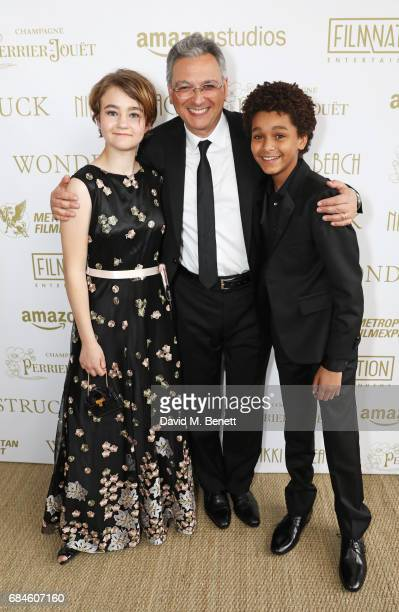 Millicent Simmonds Victor Hadida and Jaden Michael attend the Amazon Studios official after party for 'Wonderstruck' at the iconic Nikki Beach popup...