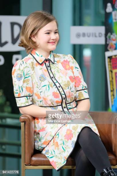 Millicent Simmonds visits Build Studio to discuss the film 'A Quiet Place' on April 3 2018 in New York City