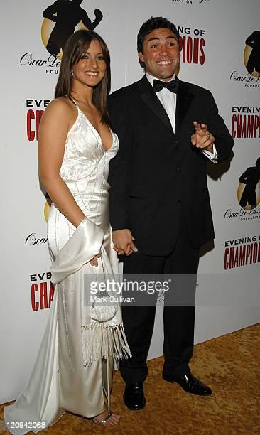 Millie and Oscar De La Hoya during Oscar De La Hoya Hosts 7th Annual Evening of Champions at The Regent Beverly Wilshire Hotel in Beverly Hills...
