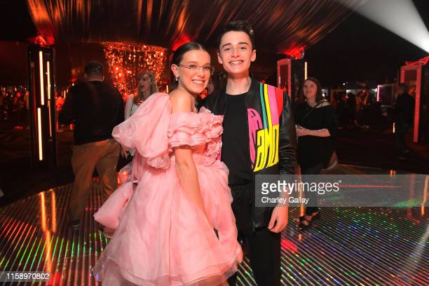 Millie Bobby Brown and Noah Schnapp attend the Stranger Things Season 3 World Premiere on June 28 2019 in Santa Monica California