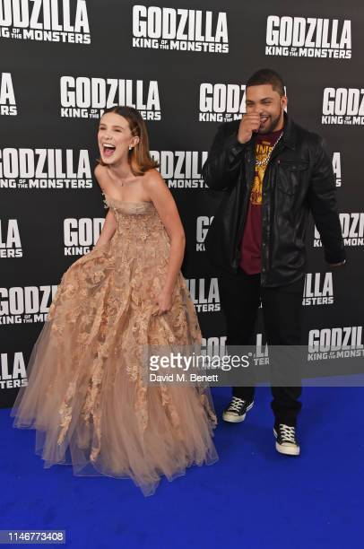 """Millie Bobby Brown and O'Shea Jackson Jr. Attend a special screening of """"Godzilla II: King Of The Monsters"""" at Cineworld Leicester Square on May 28,..."""